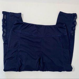 Shosho Women's Activewear Leggings sz XL Blue